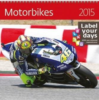 Motorbikes - nástěnný kalendář 2015