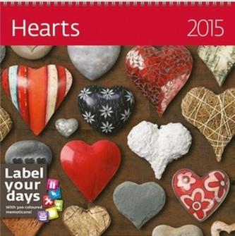 Hearts - nástěnný kalendář 2015