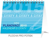 Plánovací mini s citáty - stolní kalendář 2015