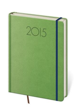 Diář 2015 - NEW PRAGA denní A5 s gumičkou - zelená