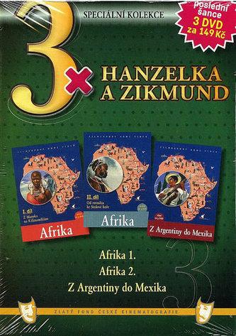 3x Hanzelka a Zikmund - Afrika I. / Afrika II. / Z Argentiny do Mexika