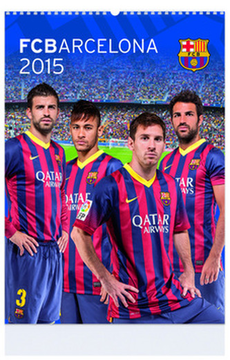 FCBarcelona - nástenný kalendář 2015