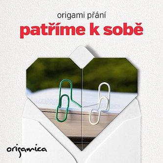 Origami přání - Patříme k sobě