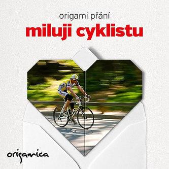 Origami přání - Miluji cyklistu