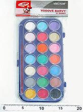 Vodové barvy - 21 barev