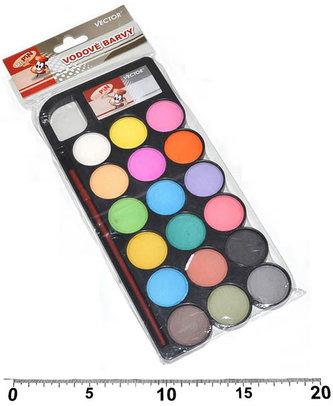 Vodové barvy - 18 barev