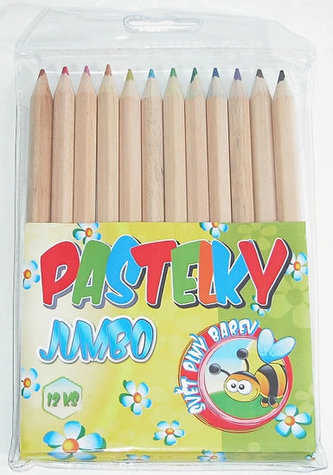 Pastelky Jumbo natural - 12 ks