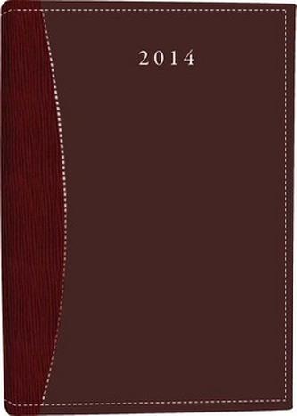 Diář B6 Orion týdenní vínový 2014