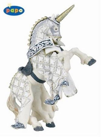 Kůň rytíře jednoroha stříbrný