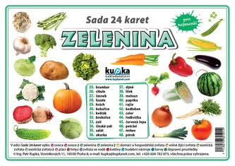 Sada 24 karet - zelenina