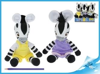 Zebra ZOU plyšová postavička 6 ks v Boxu