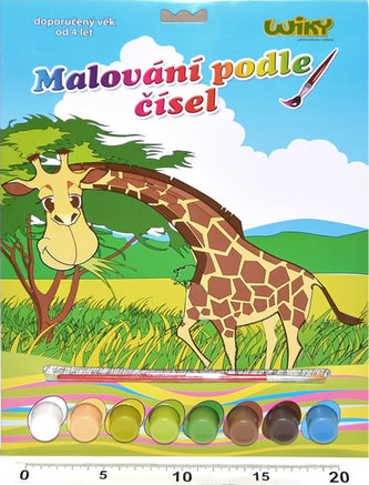 Malování podle čísel - Žirafa
