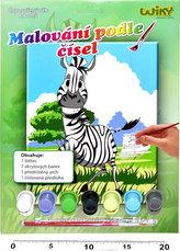 Malování podle čísel - Zebra