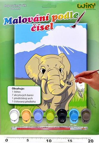 Malování podle čísel - Slon