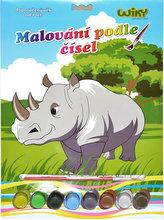 Malování podle čísel - Nosorožec