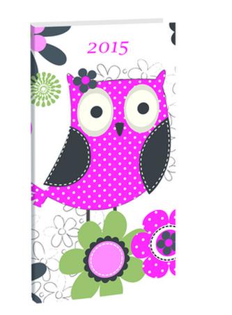 Diář A6 Owl týdenní 2015