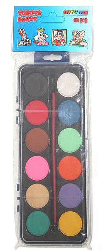 Čtyřlístek vodové barvy - 12 barev