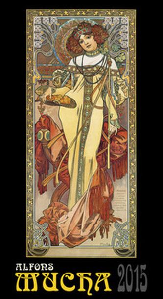 Alfons Mucha - nástěnný kalendář 2015