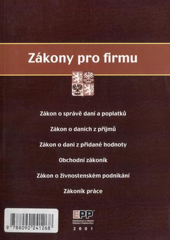 EPP 2001 Zákony pro firmu