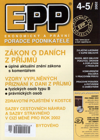 EPP 4-5/2002 Zákon o daních z příjmů... (Grada)