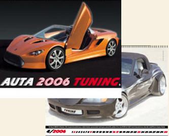 Auta Tuning 2006 - nástěnný kalendář