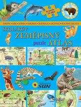 Školákův zeměpisný puzzle atlas