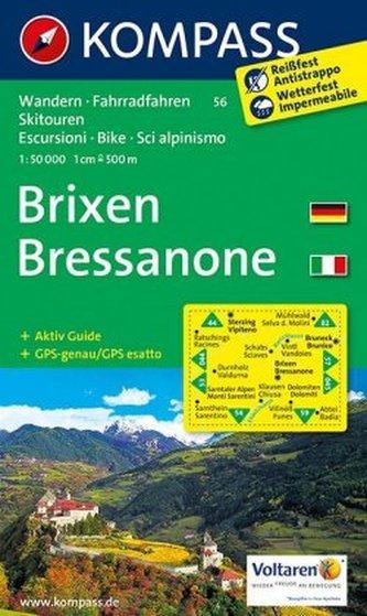 Kompass Karte Brixen. Bressanone
