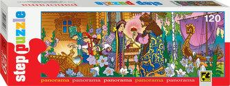 Puzzle 120 Panorama: Ruské pohádky - Šarlatový květ