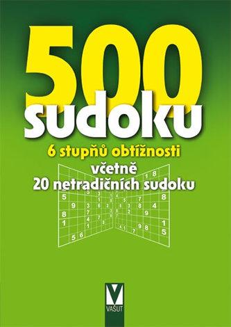 500 sudoku - 6 stupňů obtížnosti včetně 20 netradičních sudoku