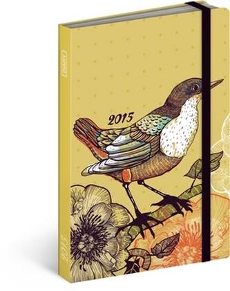 Ptáci obrázkový kapesní týdenní diář 2015