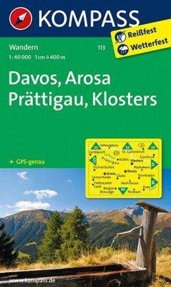 Kompass Karte Davos, Arosa, Prättigau, Klosters