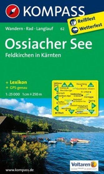 Kompass Karte Ossiacher See, Feldkirchen in Kärnten