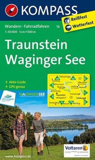 Kompass Karte Traunstein, Waginger See