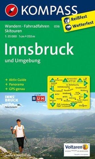 Kompass Karte Innsbruck und Umgebung