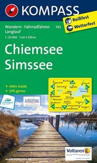 Kompass Karte Chiemsee, Simssee