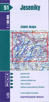 Jeseníky zimní mapa 1:100 000