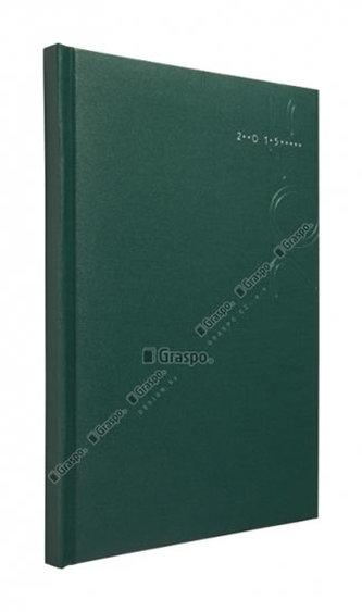 Diář 2014 - Kronos zelený - matný týdenní A5