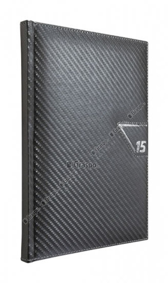 Diář 2014 - Carbon stříbrný týdenní A5