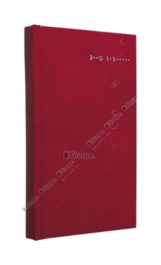 Diář 2014 - Kronos červený - lesklý kapesní