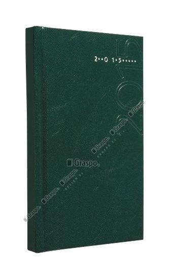 Diář 2014 - Kronos zelený - lesklý kapesní