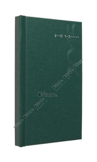 Diář 2014 - Kronos zelený - matný kapesní