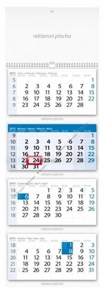 Kalendář 2015 - Čtyřměsíční modrý nástěnný