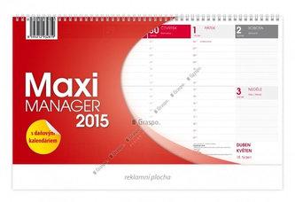 Kalendář 2015 - Maximanager červený stolní