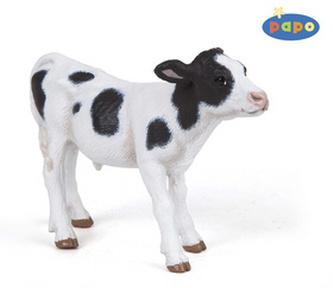 Strakatá kráva tele