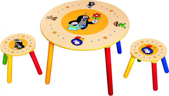 Dětský stolek, 2 sedátka, Krteček - neuveden