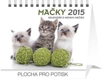 Mačky s menami mačiek Praktik - stolní kalendář 2015