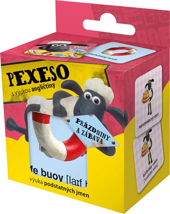 Ovečka Shaun - pexeso na prázdninách s výukou AN