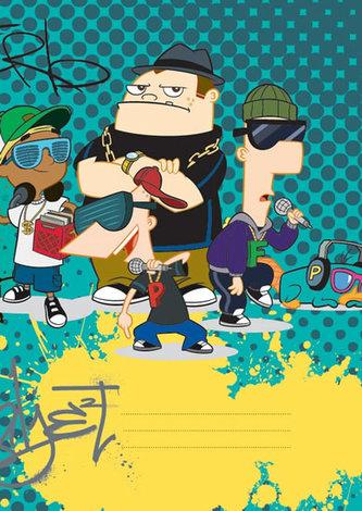 Phineas & Ferb Boys - školní sešit A4, 40 listů, linkovaný