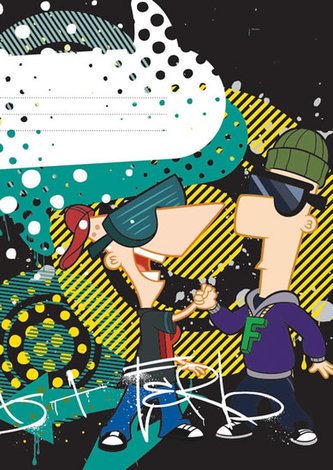 Phineas & Ferb Boys - školní sešit A5, 40 listů, nelinkovaný