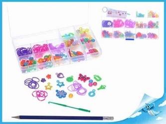 Udělej si svůj náramek - gumičky 90ks + ozdobné korálky